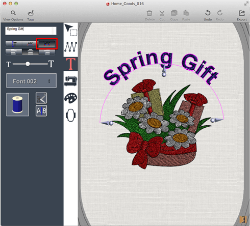 DRAWings SNAP for Mac OS embroidery application - features